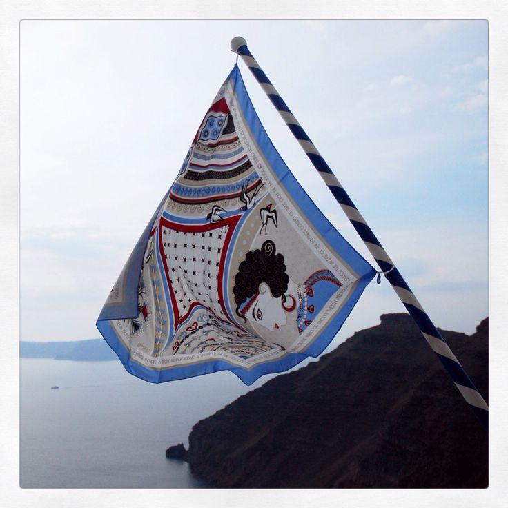 """""""Santorini"""" silk scarf by Grecian Chic!"""