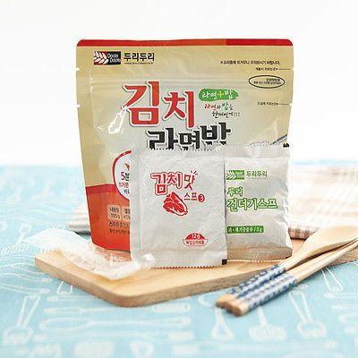 Korean Food Kimchi Noodle&Rice Ramenbap Asian Food MRE Hot Water Need Only