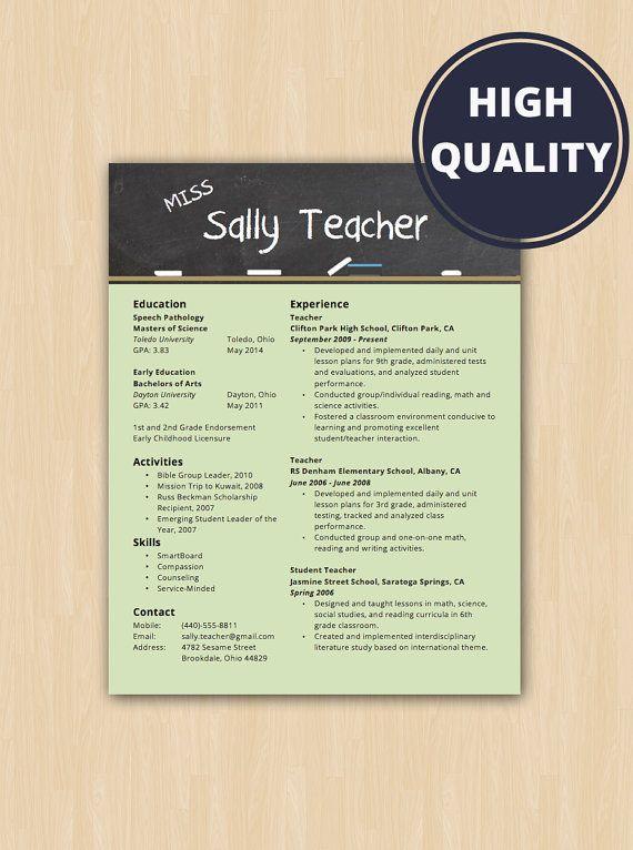 teacher resume examples pinterest