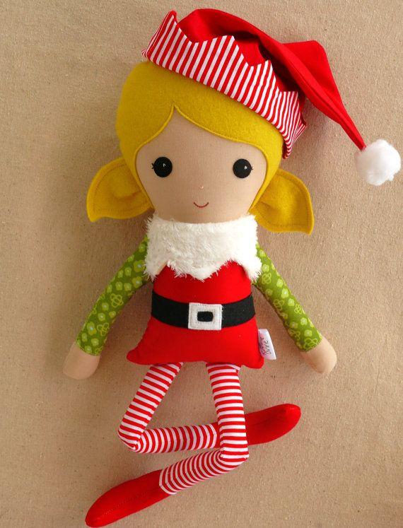 handmade doll by rovingovine on etsy santa's little helper
