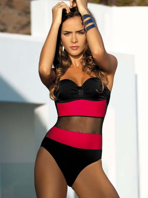 Hot Hot!!! Meriell Mesh One Piece Bathing Suit 2014