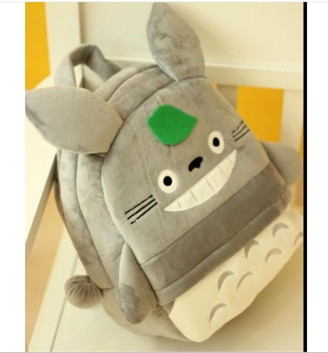1 piece Anime Totoro Cotton 3D Cartoon Children Plush Backpacks for Boys Girls Schoolbag for Teenagers Kids Schoolbag #Affiliate