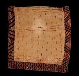Kaitaka paepaeroa with ngore (cloak with taaniko borders and vertical aho, weft rows)