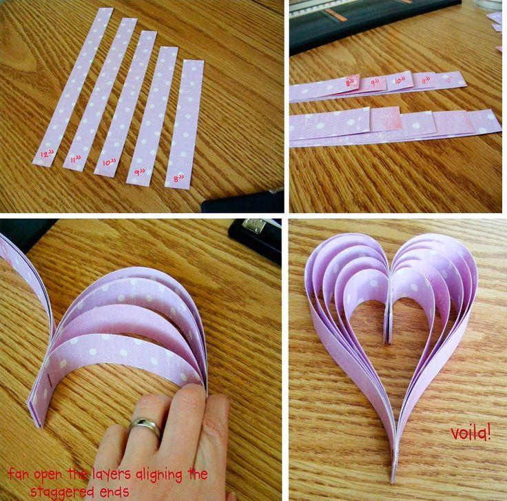 Сердце своими руками из бумаги
