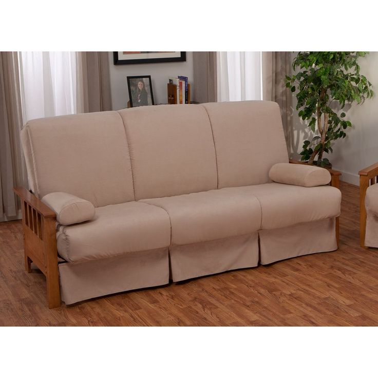 Provo Perfect Sit & Sleep Mission-style Pillow Top Queen-size Sofa Bed - Overstock™ Shopping - Great Deals on EpicFurnishings Futons. Don't want this one but love the skirt idea.