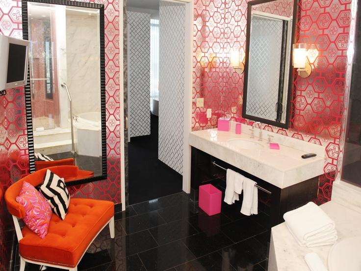 Ever Dreamed Of Living In Barbies Malibu Dream House Come Stay In The Barbie Suite  C B Orange Bathroomsbathroom Spabathroom Ideasbathrooms