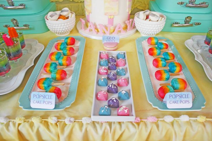 Popsicle Cake pops - Sugar Pop Bakery (posts Australia wide). Party/styling by Dream a Little Dream children's parties