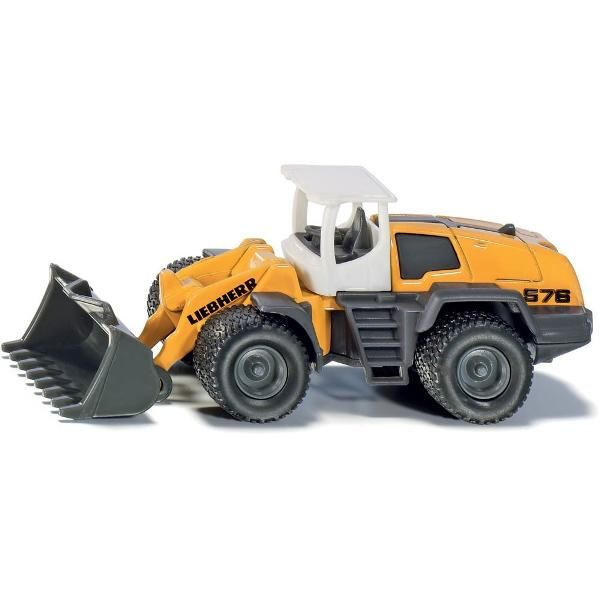 Jual beli LIEBHERR 576 LOADER Truck Diecast SIKU di Lapak Rijal - rijal6683. Menjual Diecast - The mighty miniature version of the Liebherr four wheel loader is perfect for young construction workers! The toy model made from die-cast metal and plastic runs on powerful wheels with high grip tires. With movable folding arm and shovel.  With movable folding arm and shovel SIKU toy models are accurately detailed, robust, and provide a multiplicity of play functions Development, design…