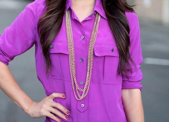 purple blouse top