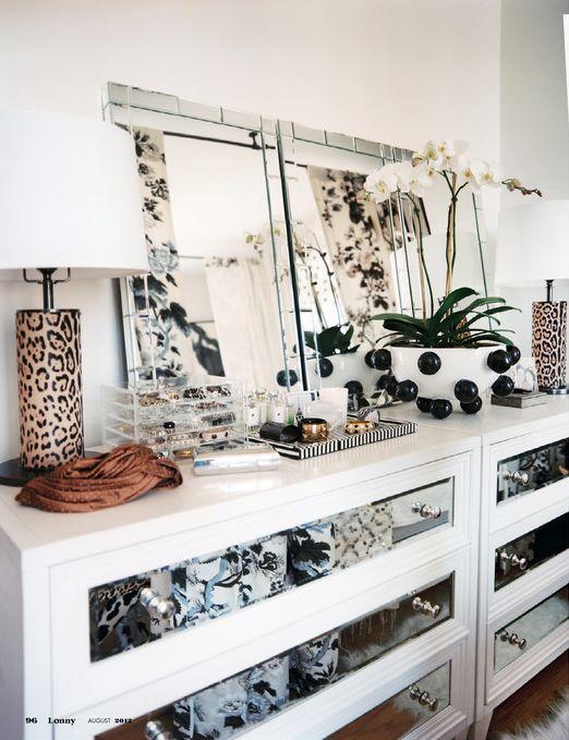 decorology: Una habitación súper chic y glamoroso
