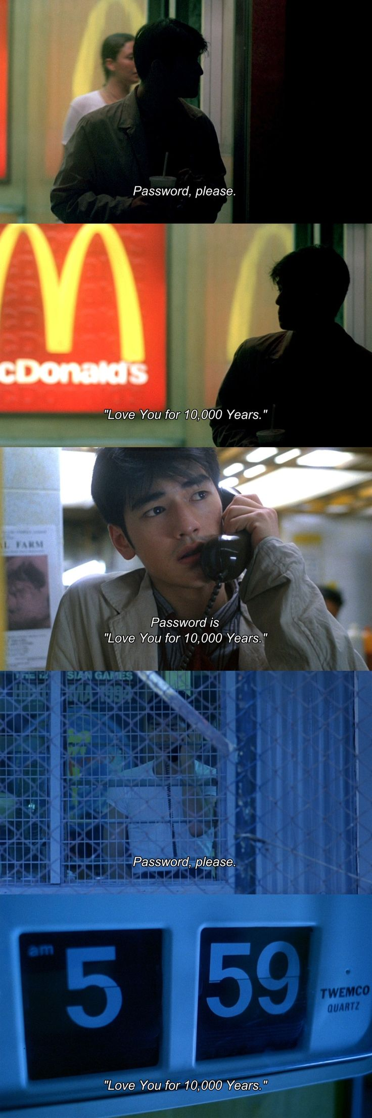 lovelorn passwords. (Chungking express)