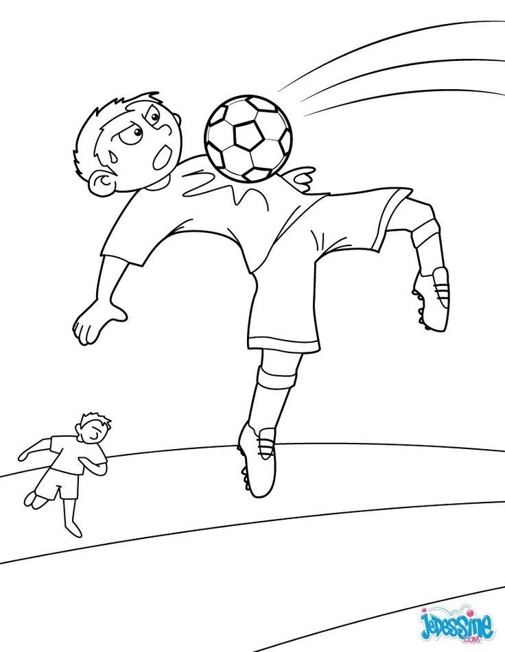 69 best images about coloriages football on pinterest - Image de foot a imprimer ...