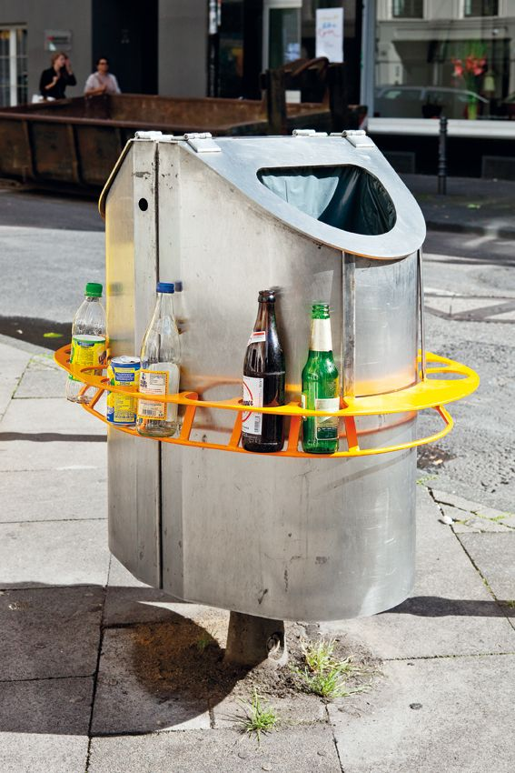 Innovative system for collecting the bottles and cans around the city — in Germany.