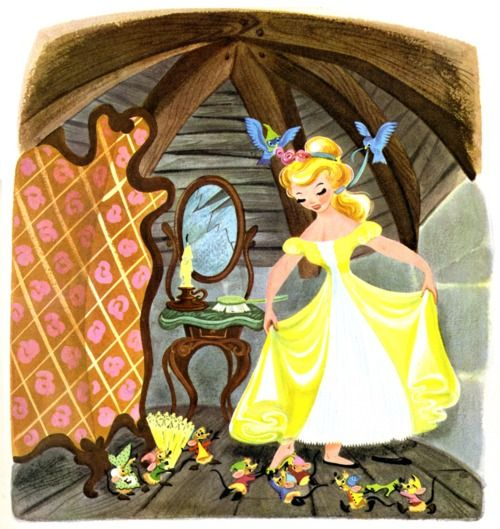 Cinderella print from the little golden book version...love it so much.