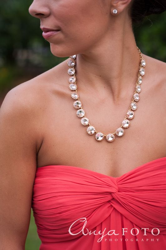 anyafoto.com, wedding jewelry, bridal jewelry, necklace, gold, crystal, gold necklace, crystal necklace