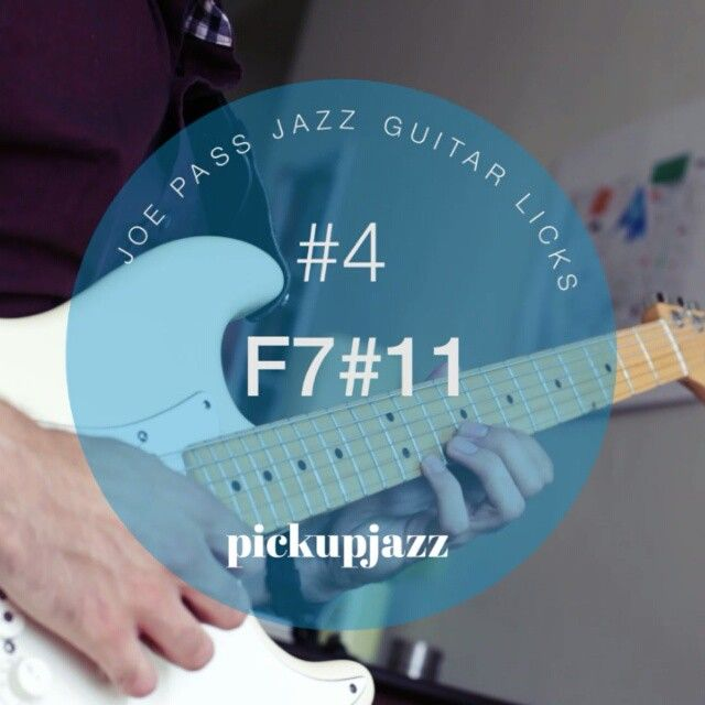 A F7#11 melodic minor type lick from Joe Pass.  You could use this on a blues or a II7 chord (as in Take the A Train) or even on a bii7 tritone sub.  #jazzguitar #pickjazz #jazzguitarlick #riffwarsjazz #joepass