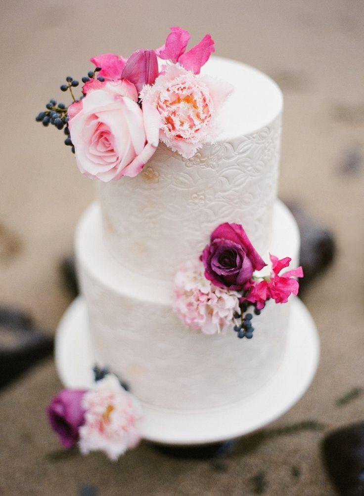 Stunning beach wedding cake // Photography ~ Love Note Photography