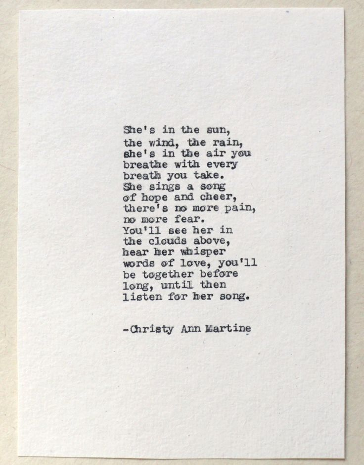 Loss of Mother Sister Daughter - Grief and Mourning Gifts - She's In the Sun Sympathy Gift Poem Hand Typed by Author onto Handmade Paper by ChristyAnnMartine on Etsy https://www.etsy.com/listing/208178008/loss-of-mother-sister-daughter-grief-and