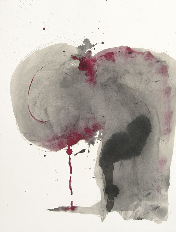 Morphè XVI - Inks and pigments on paper - 41x31 cm - 2011 - Alessio Pierro
