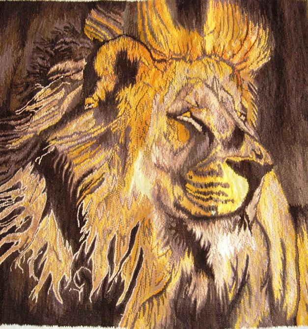 A tapestry of sheer power, woven to the finest quality. The King of the African Kingdom...