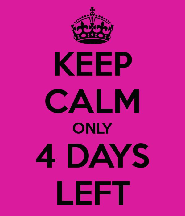 4 More Days Left  before the Fall Launch!!
