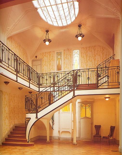Hector Guimard Htel Paul Mezzara 1911 Nouveau Art Interior StaircasesArt
