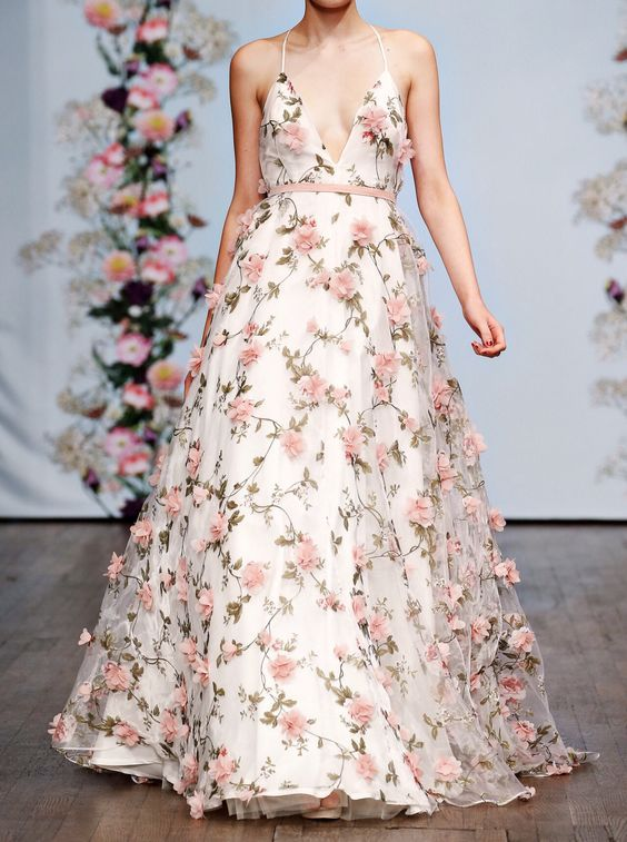 Spring Flowers Gown
