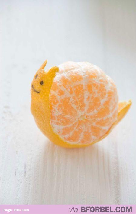 Tangerine+snail