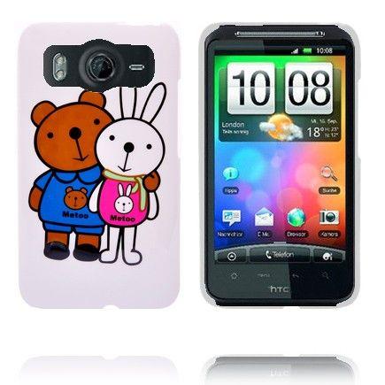 Happy Cartoon (Kanin og Bjørn) HTC Desire HD Deksel