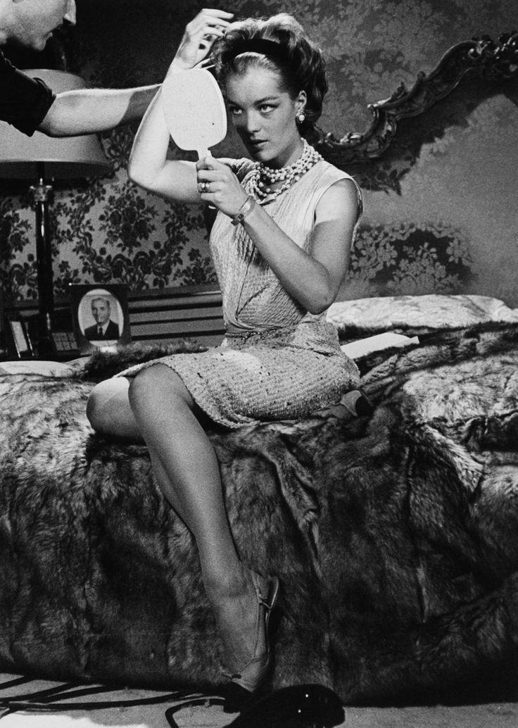 """Romy Schneider as Pupe in Il lavoro (by Luchino Visconti). Episode of """"Boccaccio '70"""" (1962)."""