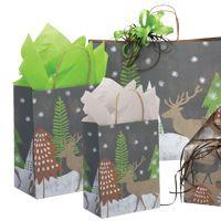 """Cadeaux Tendance - Kit 50 emballages-cadeaux modèle """"Première Neige"""" format PETIT"""