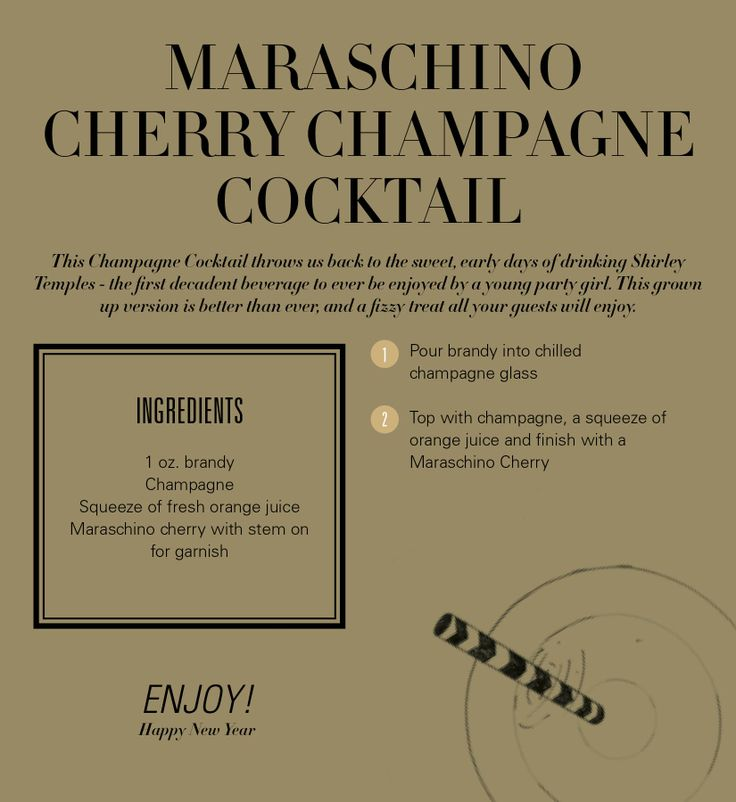 Maraschino Cherry Champagne Cocktail - Revelry House