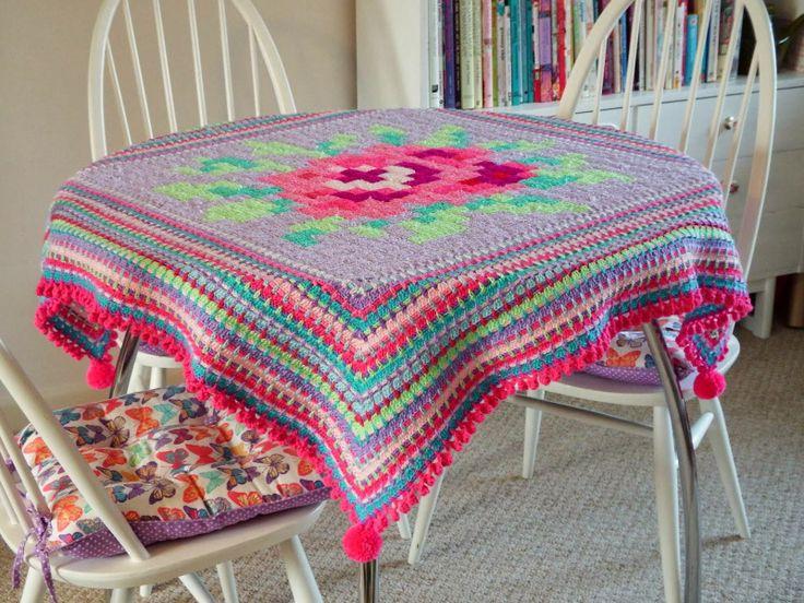 Rose - the crochet tablecloth Inspiracion ༺✿ƬⱤღ http://www.pinterest.com/teretegui/✿༻