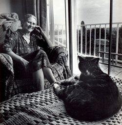 with Doris Lessing (Inglaterra, 1919-2013).