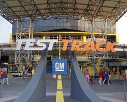 Test Track in Epcot in Orland Florida is a fun ride. You go through the test they put cars though.  At the end they test how fast the car can go.