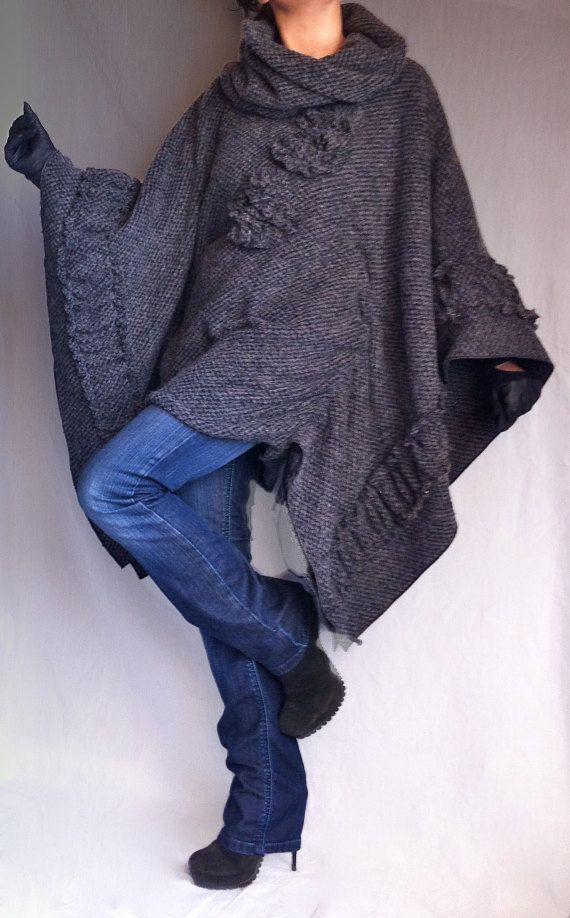 Cape coat poncho