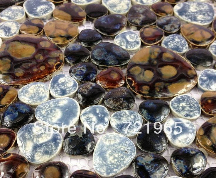 keramiek porselein mozaïek ppmt075 kiezel tegel backsplash keuken wandtegel sticker badkamer vloertegels
