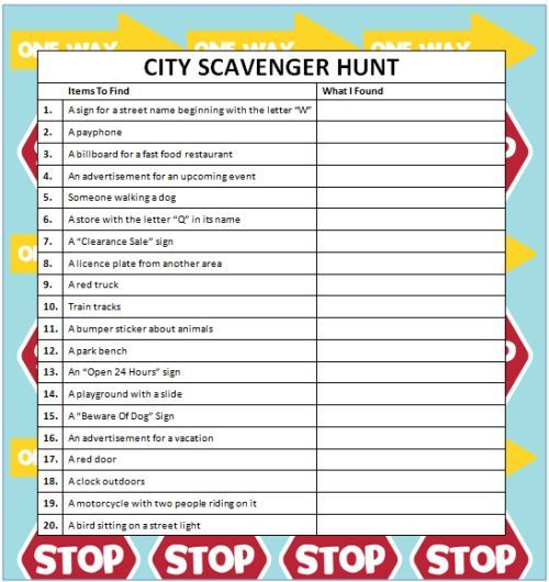 Disney's Live Action Movie Midnight Madness City Scavenger Hunts (Free Printable) #KidsActivities