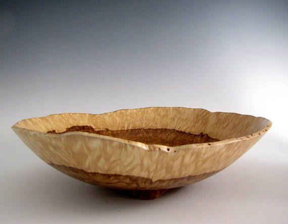 Wood Bowl - Large Chestnut Oak Burl Wood Turned Bowl - Fruit Bowl - Lathe Turned Bowl - Wood Turning - Centerpiece Bowl - Wooden Bowl