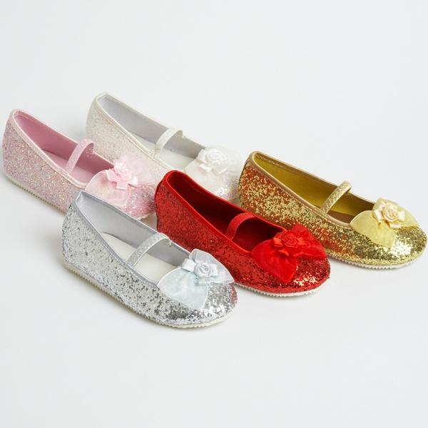 Girls Children's Kids Glitter Flower Girl Wedding Bridesmaid Dolly Party Shoes | eBay