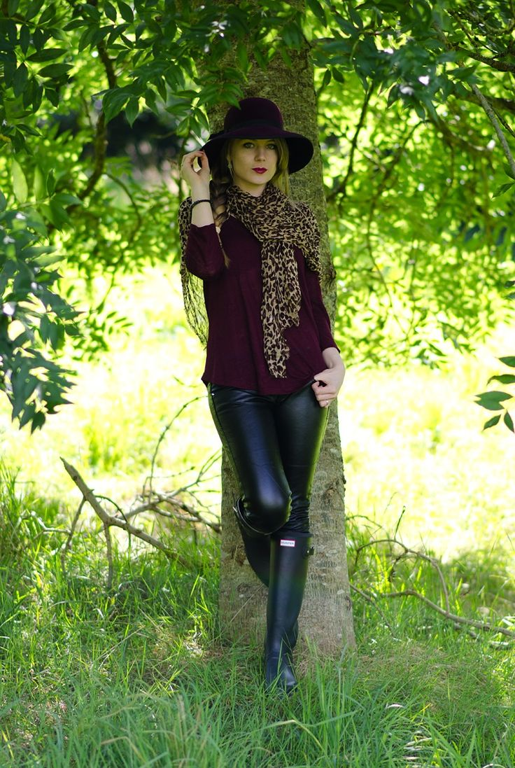 lorna burford raindrops of sapphire under tree fashion blogger Jazzing Up A Country Walk With Leather & Wellies
