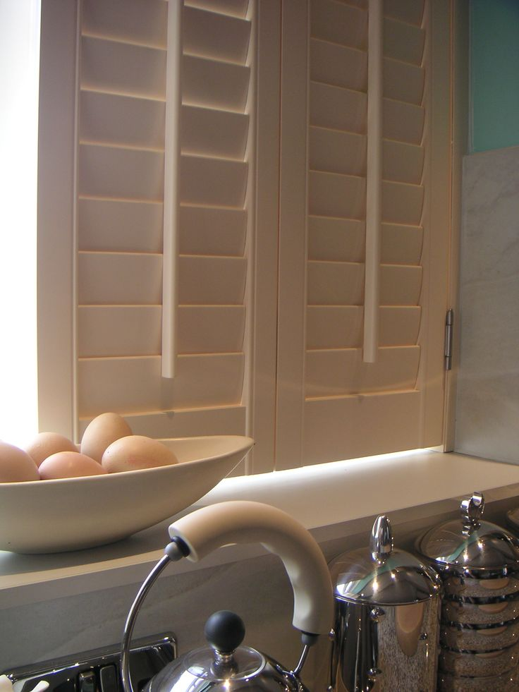 Zoomed in kitchen #shutters