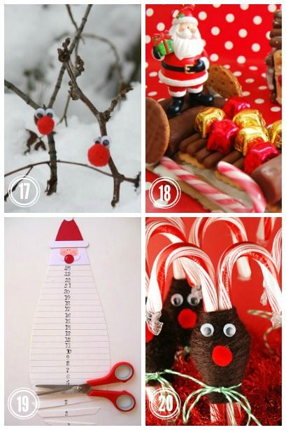 Check out this adorably easy Christmas crafts for kids all focusing on Santa and his Reindeer.