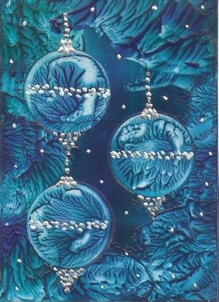 Christmas Baubles (Aceo Card 2.5 x 3.5 )