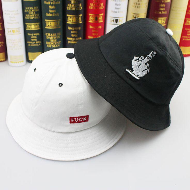 Бесплатная доставка 2016 боб вводная часть хип-хоп черный белый мужские пошел на хуй отпечатков пальцев рыболовные шапки ведро шляпы мужские