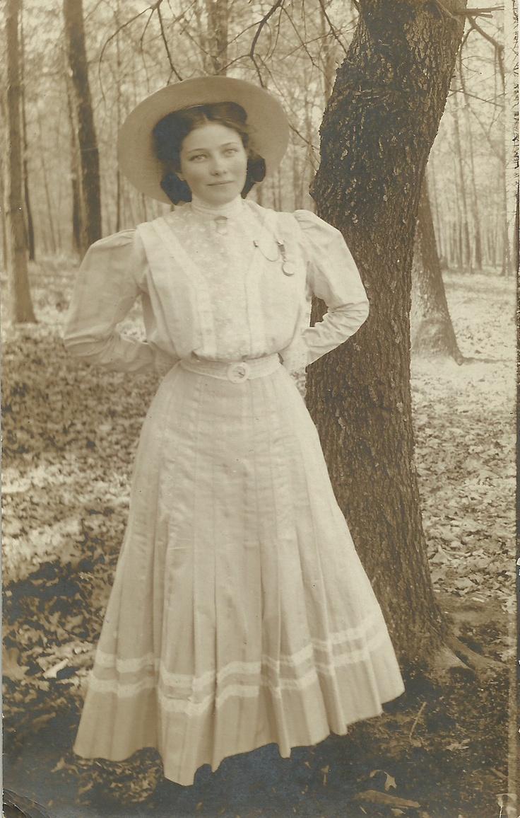 Rare 1910S Rppc Real Photo Postcard Beautiful Woman -4524