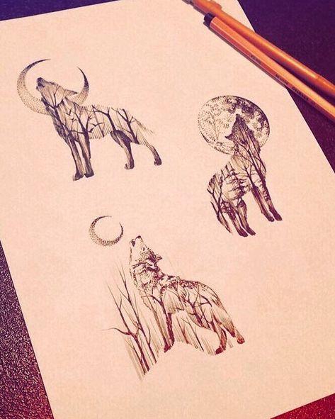 Tattoo frauen wolf klein 49 best ideas
