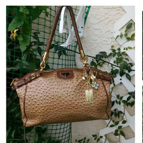 30 min sale Beautiful BALY VIDEN CLASSIC BAG Authentic BALY  Viden  Brown  Ostrich Leather Boston Hand Bag  Excellent condition Baly Viden  Bags Shoulder Bags