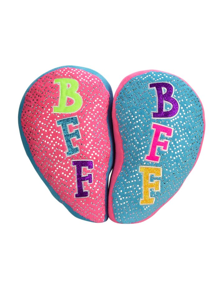 Pink turquoise bff pillows sleeping bags pillows for Room decor justice