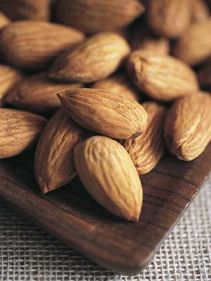 Almonds and pistachios are great, non-bloating snacksprovided theyre unsalted, says Bauer. Their high-protein count also helps you feel fuller, faster.   - Cosmopolitan.com